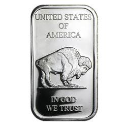 1 oz. Buffalo Design Silver Bar .999 Pure