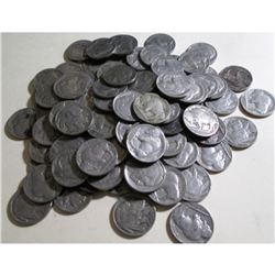 Lot of (100) Buffalo Nickels Mixed Grade and Date