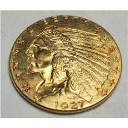1927 $2.5 Gold Indian Quarter Eagle