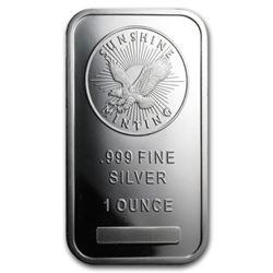 1 oz. Sunshine Mint Silver Bar -.999 Pure