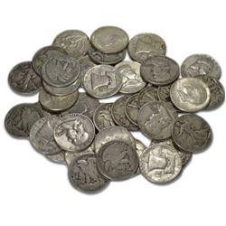 (30) Mixed Type -90% Silver Half Dollars