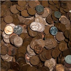 Lot of (500) Wheat Cents - Lincoln Head - Mixed