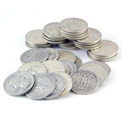 (50) Washington Quarter Dollars -90% Silver