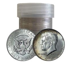 (20) Kennedy Half Dollars in Plastic Tube