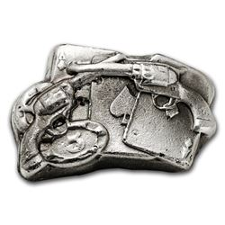 2 oz Silver Bar - Cards and 6 Shooter