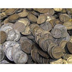 (100) Mercury Dimes -90% Silver