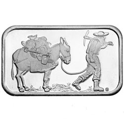 1 oz Prospector Silver Bar - .999 pure