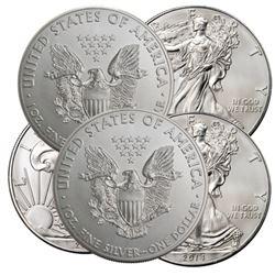 (5) Random Date BU Silver Eagles