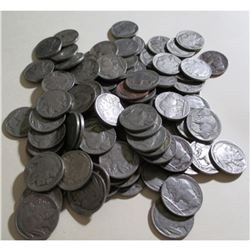 100 pcs. All Readable Date Buffalo Nickels