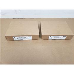 (2) ALLEN-BRADLEY 1756-EN2T SER D CLX HI-CAP ENET/IP MODULE - TP
