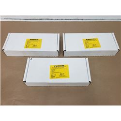 (3) TURCK FDNL-XSG16-T 16 INPUT OR OUTPUT STATION