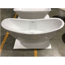 "MODERN WHITE 68"" ACRYLIC FREE-STANDING TUB"