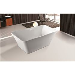 "MODERN WHITE 67"" ACRYLIC FREE-STANDING TUB"