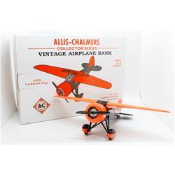 Allis Chalmers Vintage Airplane Bank 1932 Lockhead Vega