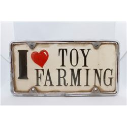 I Love Toy Farming License Plate