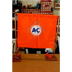 Allis Chalmers display flag w/ stand