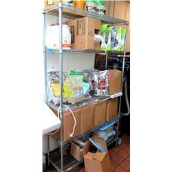 Tarrison Products 4 Shelf Open Wire Rack Shelving Unit