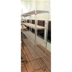 "Tarrison Products 4-Shelf Wire Rack Shelving Unit 59""W x 14""D x 75""H"