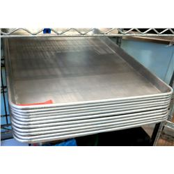 Qty 11 Large Stainless Baking Pans