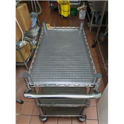 """Rolling Metal Wire Cart 29.5"""" x 18"""" x 32"""""""
