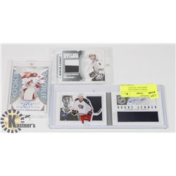 SIGNED HOCKEY CARDS AND JERSEY CARDS INCL NUGENT