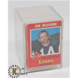LOT OF 1972 CFL CARDS.