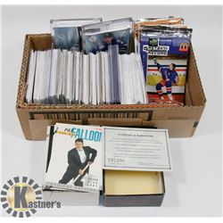 BOX OF HOCKEY CARDS INCL YOUNG GUNS AND NUMBERED