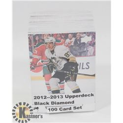 2012-13 BLACK DIAMOND 100 CARD SET HOCKEY