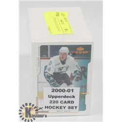 2000-01 UPPERDECK 220 CARD SET HOCKEY