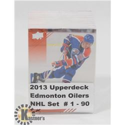 2013 UPPERDECK EDMONTON OILERS NHL SET #1-90