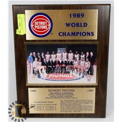 VINTAGE 1989 DETROIT PISTONS WORLD