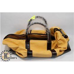 NEW YELLOW DUFFLE BAG