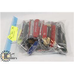 BAG OF POCKET KNIVES