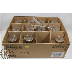 12 MARTINI 10 OZ GLASSES