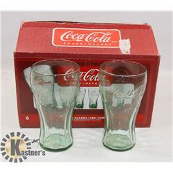 SET OF 6 COCA COLA GLASSES.