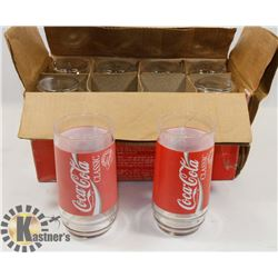 SET OF 8 COCA COLA THEMED GLASSES