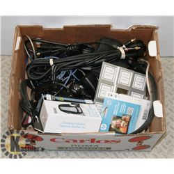 FLAT OF ELECTRONIC CABLES AND MORE.