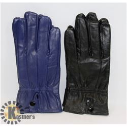 2PK LADIES LEATHER GLOVES LARGE