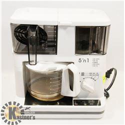SINGER 5 IN 1 COFFEE, TEA, GRINDER, ICED COFFEE &