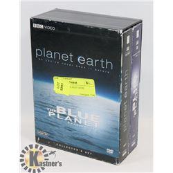 SET OF BLUE PLANET DVDS.