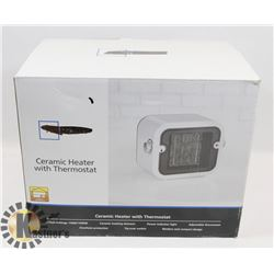 CERAMIC HEATER WITH THERMOSTAT IN BOX