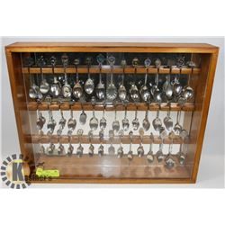 SPOON COLLECTION DISPLAY WITH 45 SPOONS