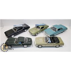 LOT OF 5 DIE CAST 1:18 SCALE CARS