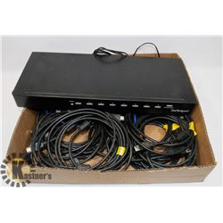 8 PORT HDMI SPLITTER WITH HDMI CABLES