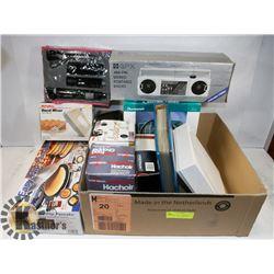 BOX OF NEW ESTATE ITEMS