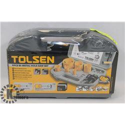 NEW TOLSEN 9 PC BI-METAL HOLESAW SET