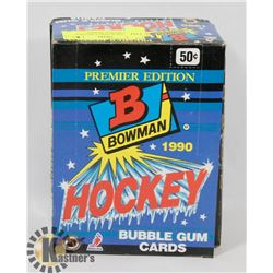BOX OF 1990 BOWMAN PREMIER EDITION HOCKEY BUBBLE