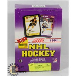 1991 SCORE NHL HOCKEY UNOPENED BOX.