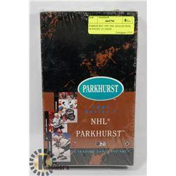 PARKHURST 1991 NHL SEALED BOX, 36 PACKS 12 CARDS