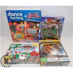 SEALED 4 GAMES DANCE FACTORY & MAT
